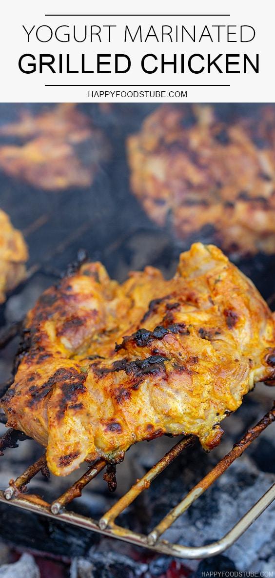 Grilled chicken marinated in yougurt