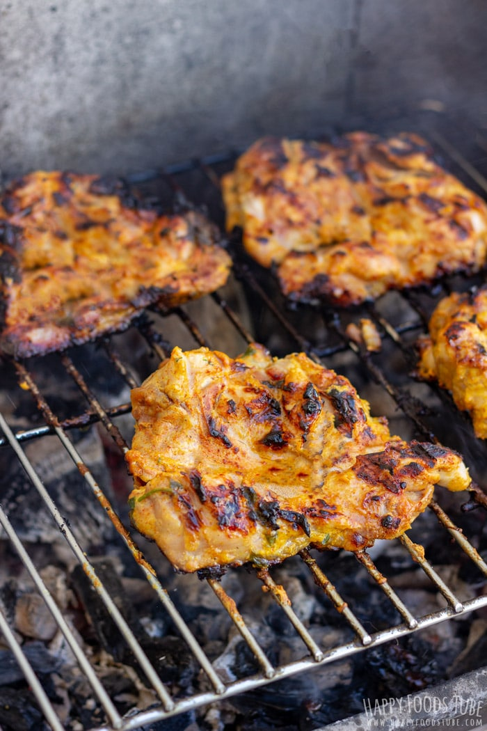 Yogurt Marinated Grilled Chicken Thighs