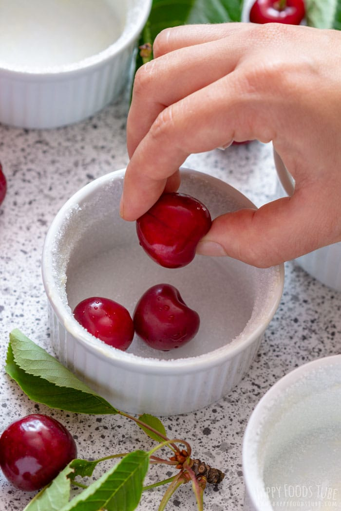 How to make Mini Cherry Clafoutis step 1