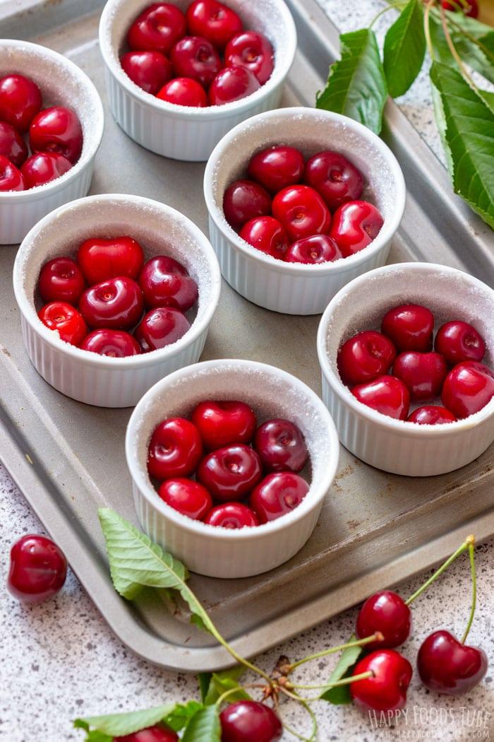 How to make Mini Cherry Clafoutis step 2