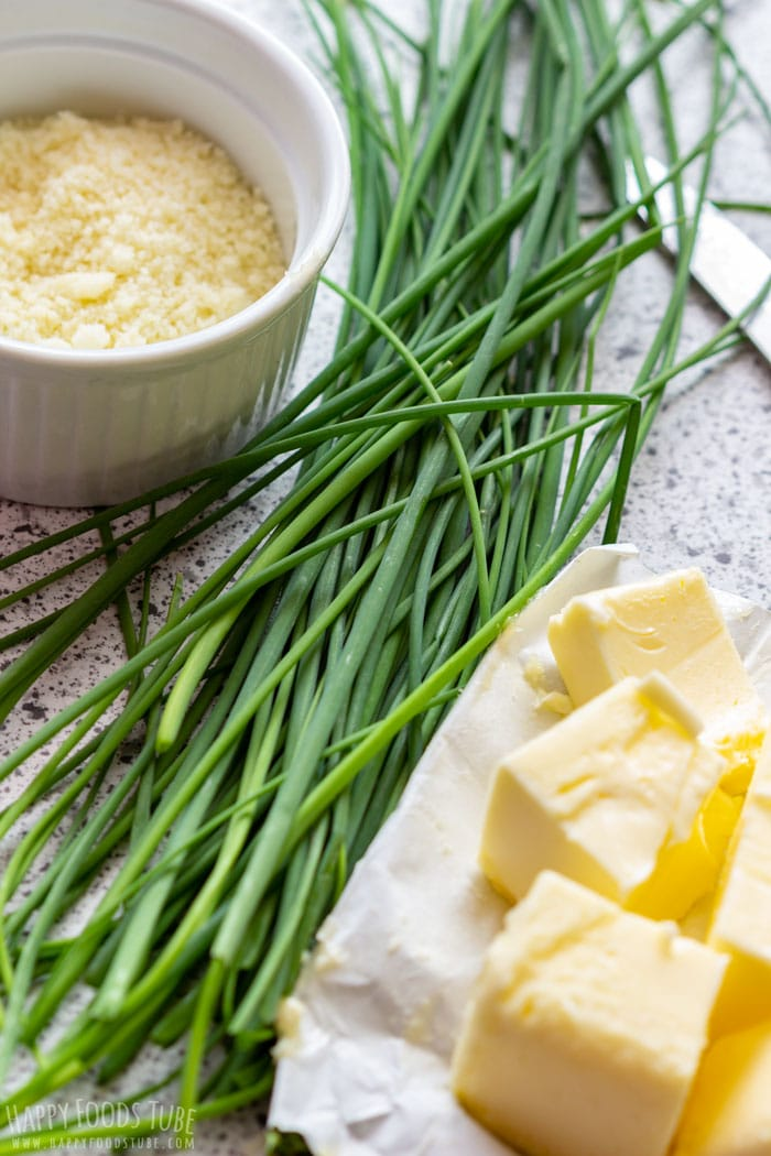 Parmesan Chive Butter Ingredients