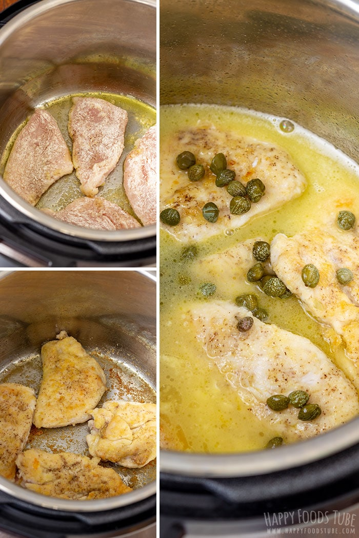 Step by step how to make Instant Pot Chicken Piccata 1