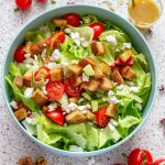 Goat Cheese Salad with Walnut Dressing
