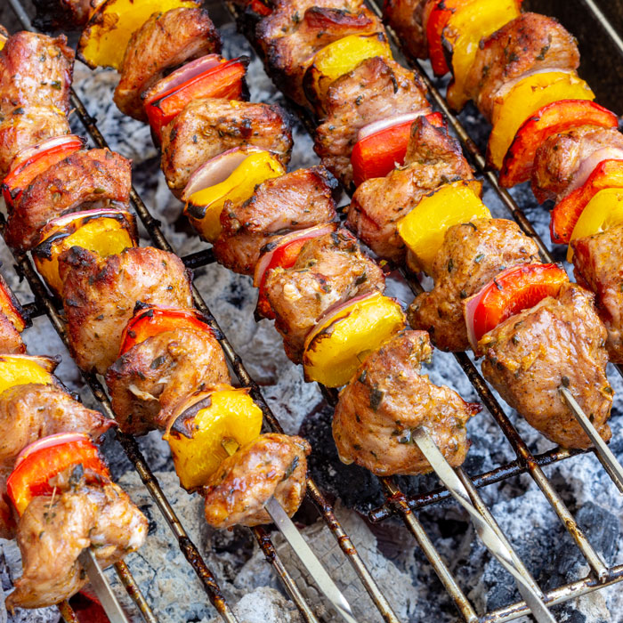 Grilled Turkey Kabobs Recipe - Happy Foods Tube