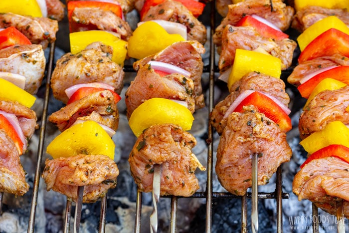 Grilling Turkey Kabobs