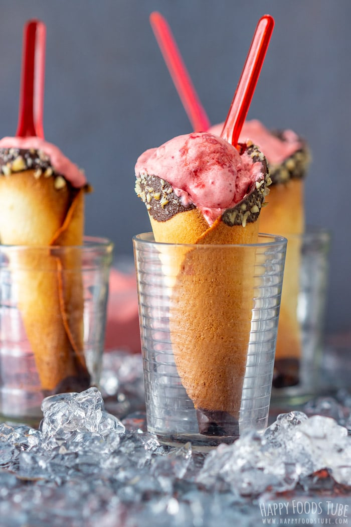 Food Processor Strawberry Ice Cream