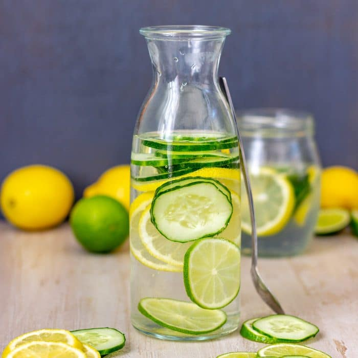 Healthy homemade Lemon Lime Cucumber Water