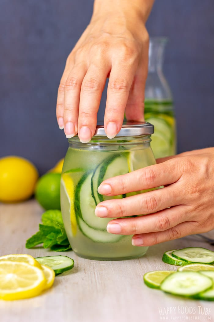 Making the Lemon Lime Cucumber Water