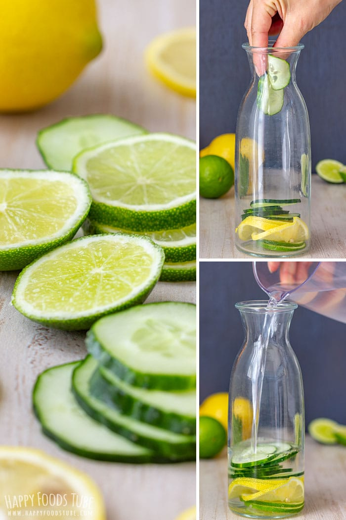 Step by step how to make Lemon Lime Cucumber Water