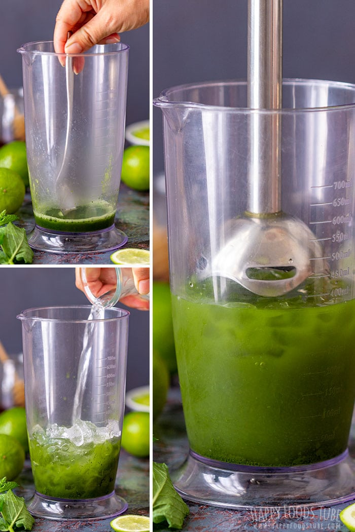 Step by step how to make Matcha Iced Tea at home