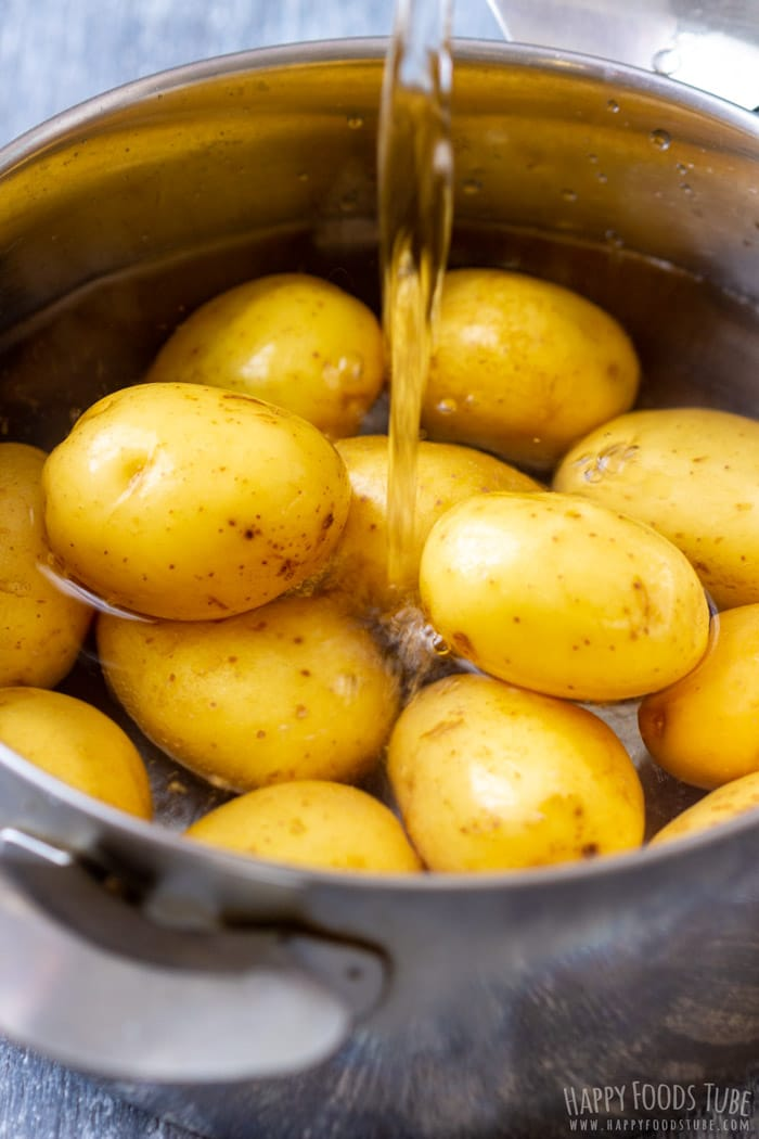 Boiling Potatoes for Garlic Smashed Potatoes
