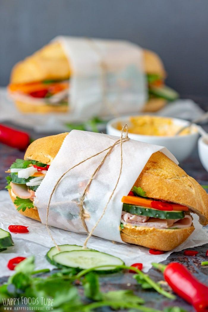 Gournet style Vietnamese Sandwich Banh Mi