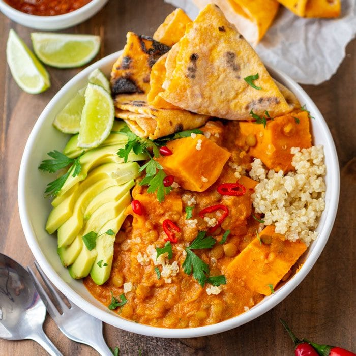 Instant Pot Sweet Potato Lentil Curry