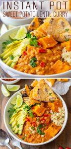 Instant Pot Sweet Potato Lentil Curry Recipe