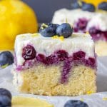 Lemon Blueberry Poke Cake from Scratch