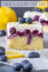 Lemon Blueberry Poke Cake Recipe