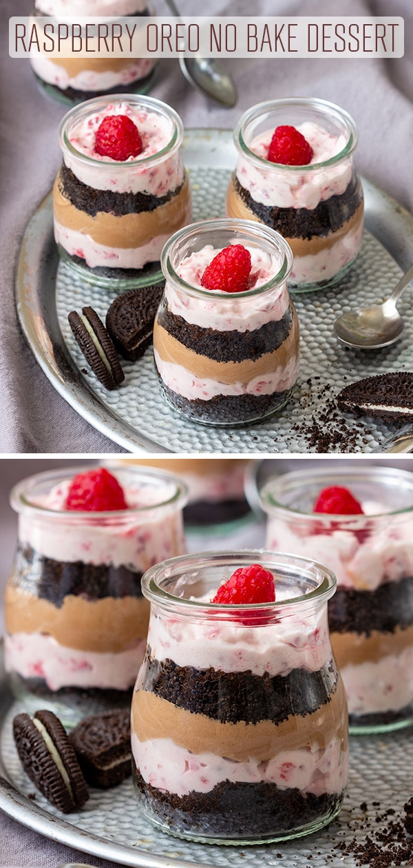 Raspberry Oreo No Bake Dessert Recipe