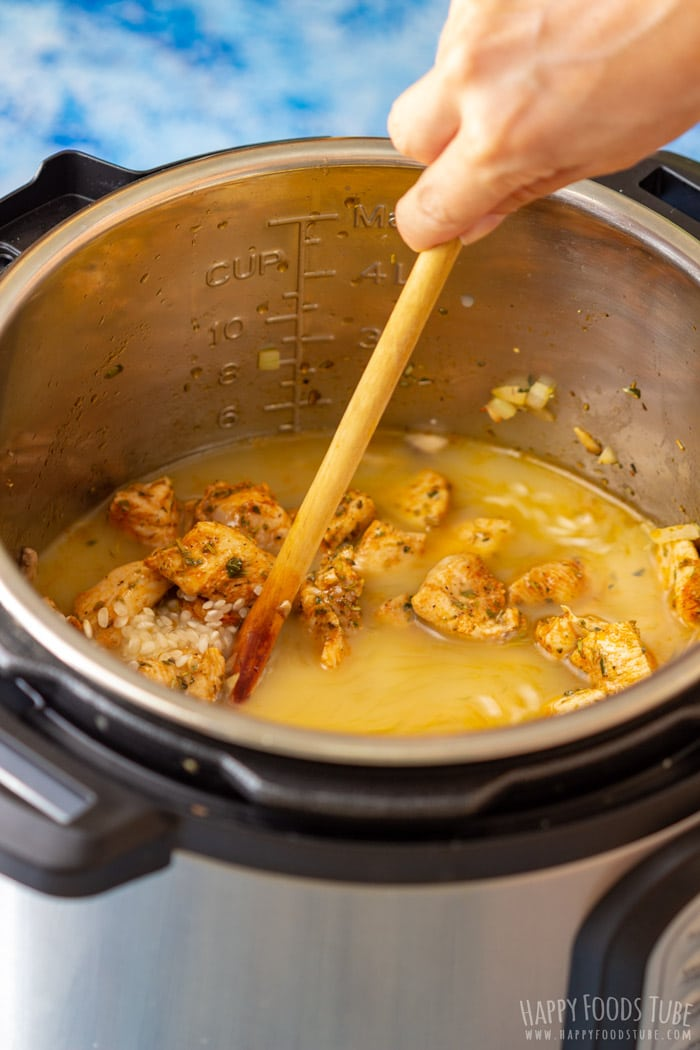 How to make Instant Pot Chicken Risotto step 1