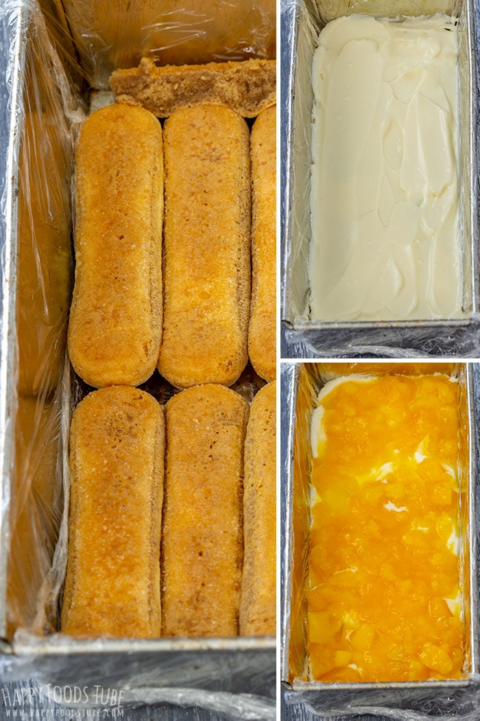 Step by Step How to Make Mango Tiramisu Picture Collage