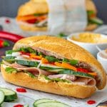 Vietnamese Sandwich Banh Mi with Cold Cuts