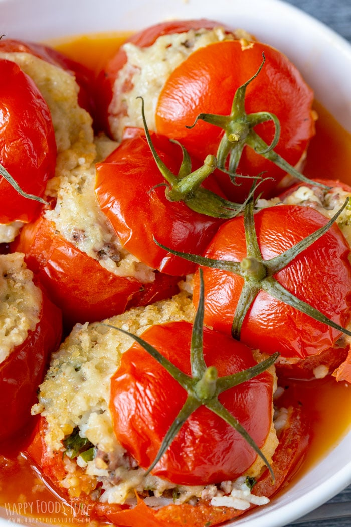 Instant Pot Stuffed Tomatoes Closeup