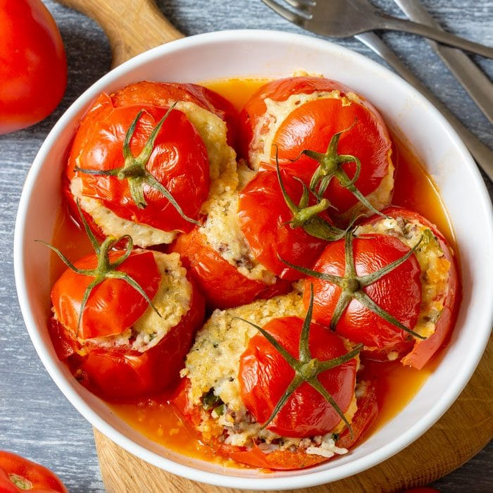 Quick Instant Pot Stuffed Tomatoes
