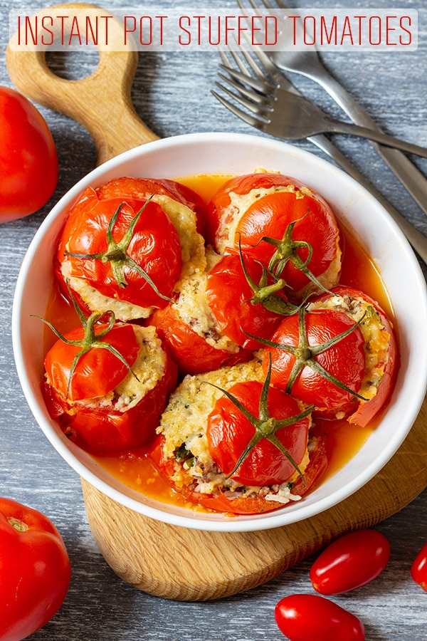 Instant Pot Stuffed Tomatoes Recipe