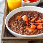 Homemade Double Chocolate Oatmeal