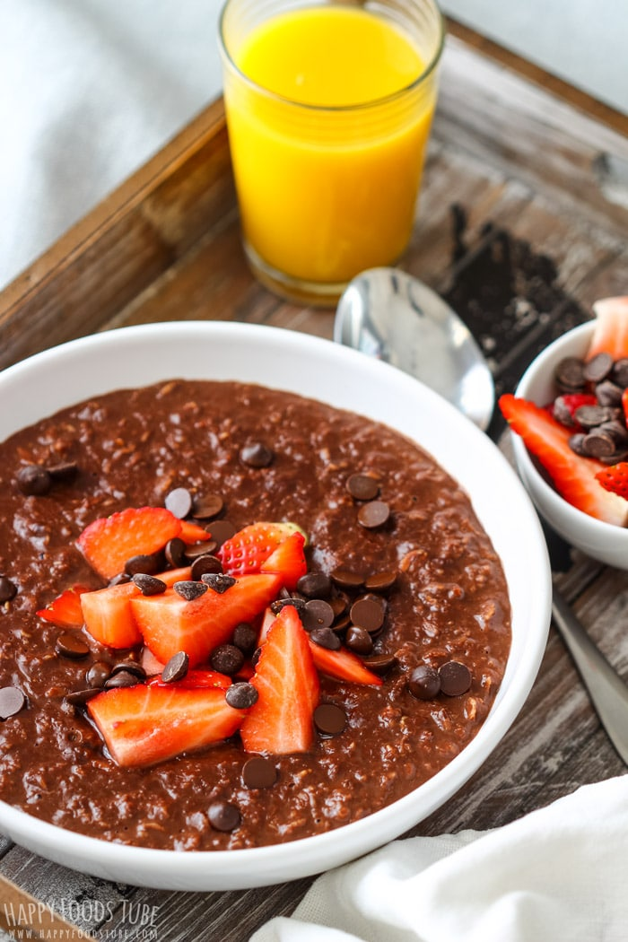 Healthy Double Chocolate Oatmeal