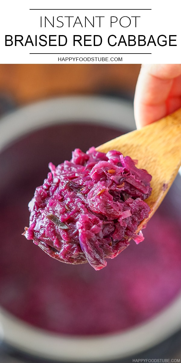 Instant Pot Pressure Cooker Braised Red Cabbage