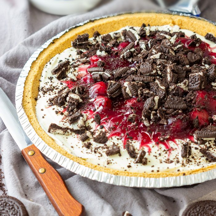 No Bake Cherry Cheesecake Pie