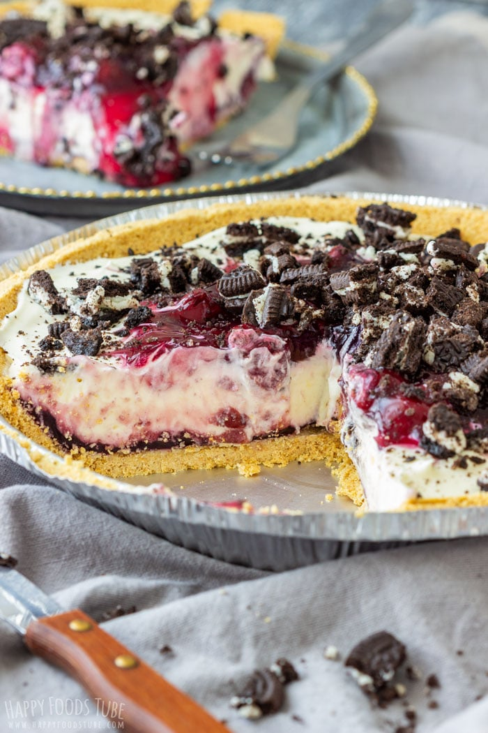10- Minute No Bake Cherry Cheesecake Pie is Family Favorite Dessert Recipe with Only 5-Ingredients