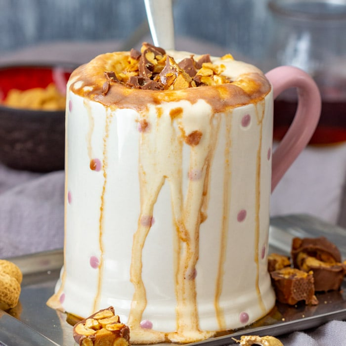 Peanut Butter Hot Chocolate - Happy Foods Tube