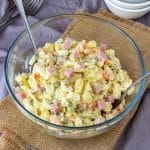 Homemade Creamy Potato and Ham Salad