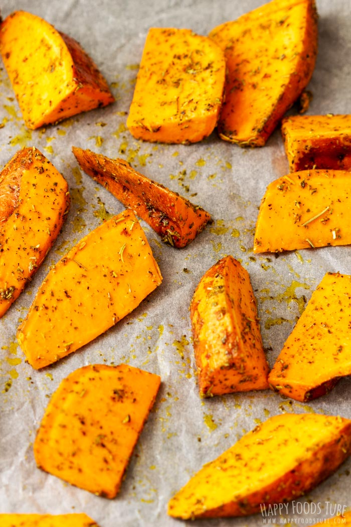 How to make Oven Roasted Sweet Potato Wedges Step 3