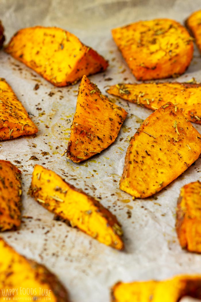How to make Oven Roasted Sweet Potato Wedges Step 4