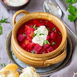 Instant Pot Beet Soup Borscht