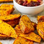 East Oven Roasted Sweet Potato Wedges
