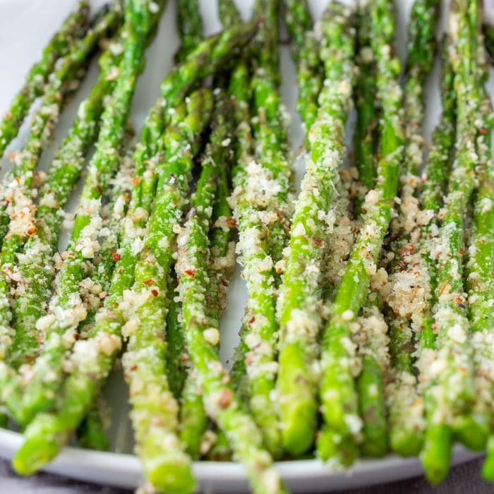 Pan Fried Asparagus with Parmesan