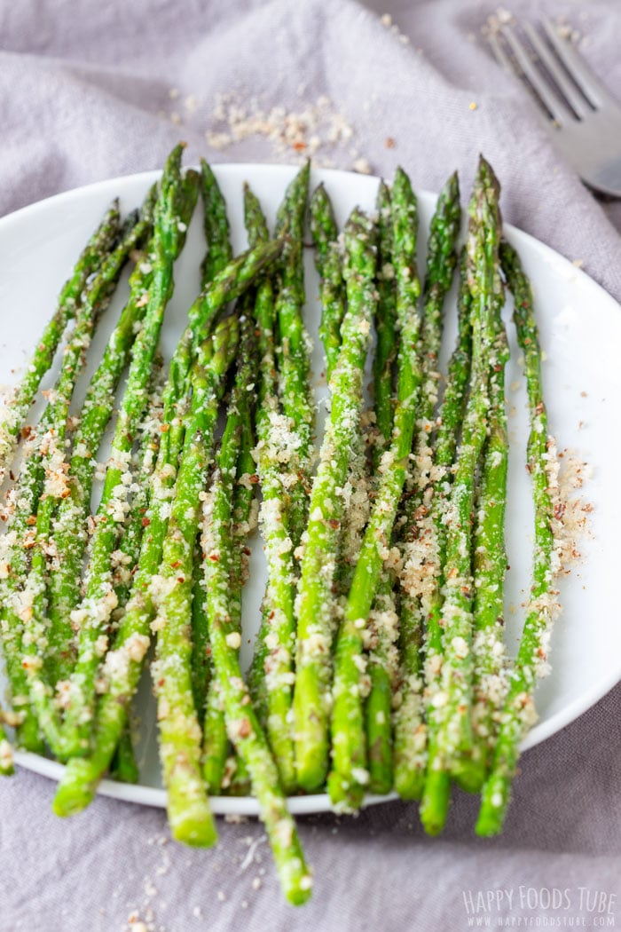 Homemade Pan Fried Asparagus with Parmesan