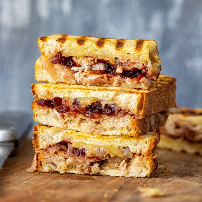 Easy Turkey Cranberry Panini