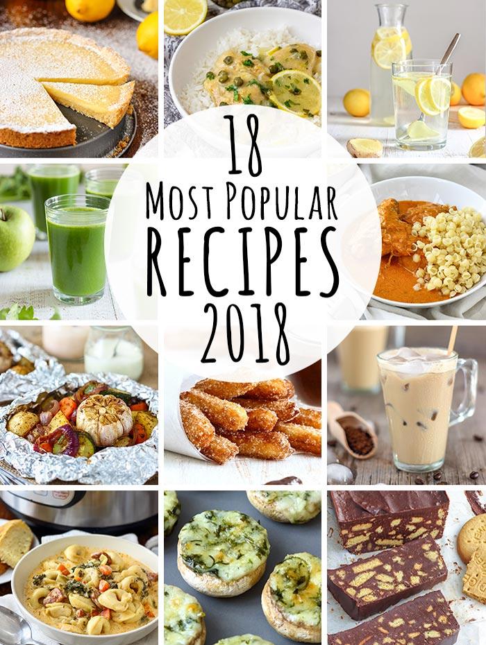 18 Most Popular Recipes of 2018