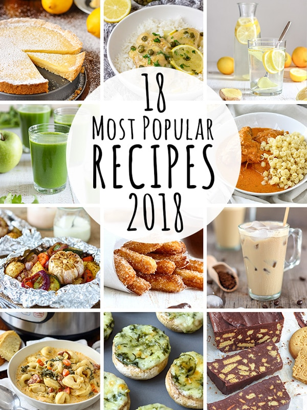Guys, today I am bringing you a list of the most popular recipes of 2018. These are the recipes you searched, made, loved and commented on the most. #happyfoodstube #popular #best #recipes #2018 #food