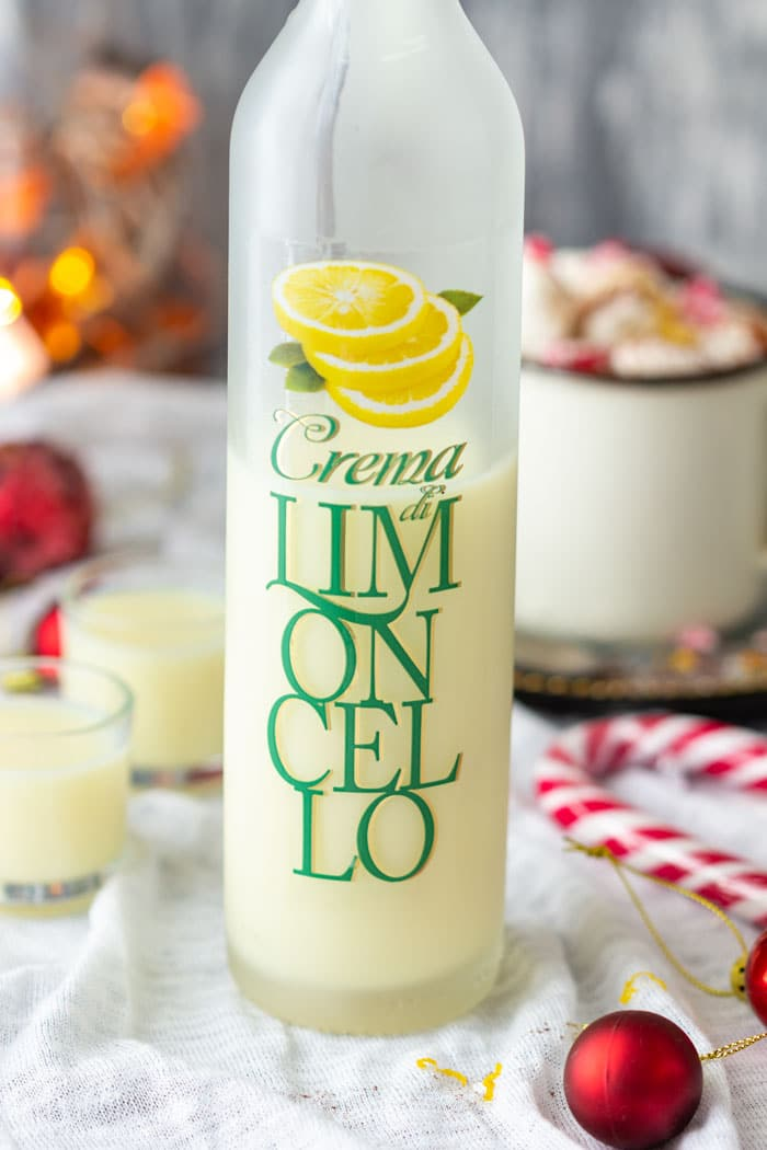 Bottle of Creamy Limoncello