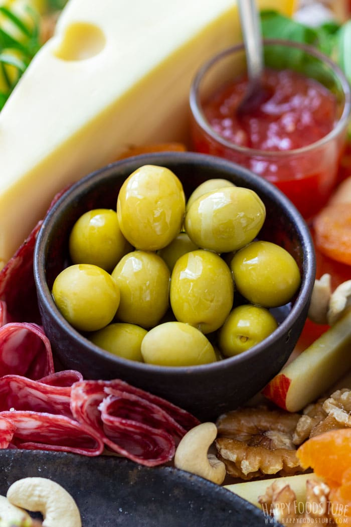 Olives on the Cheese Board