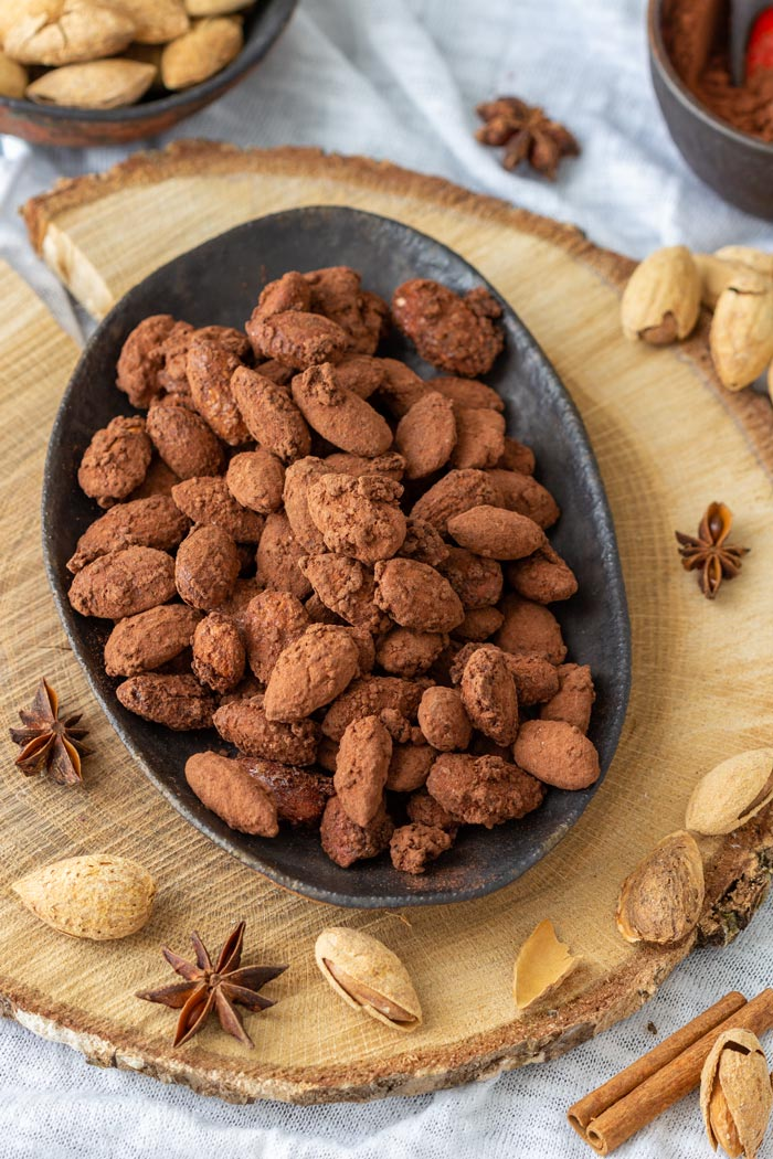 Cocoa Dusted Roasted Almonds