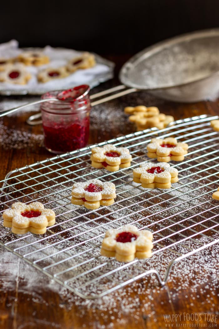 Homemade Linzer Cookies with Raspberry Jam
