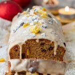 Festive Gingerbread Loaf with Cinnamon Glaze