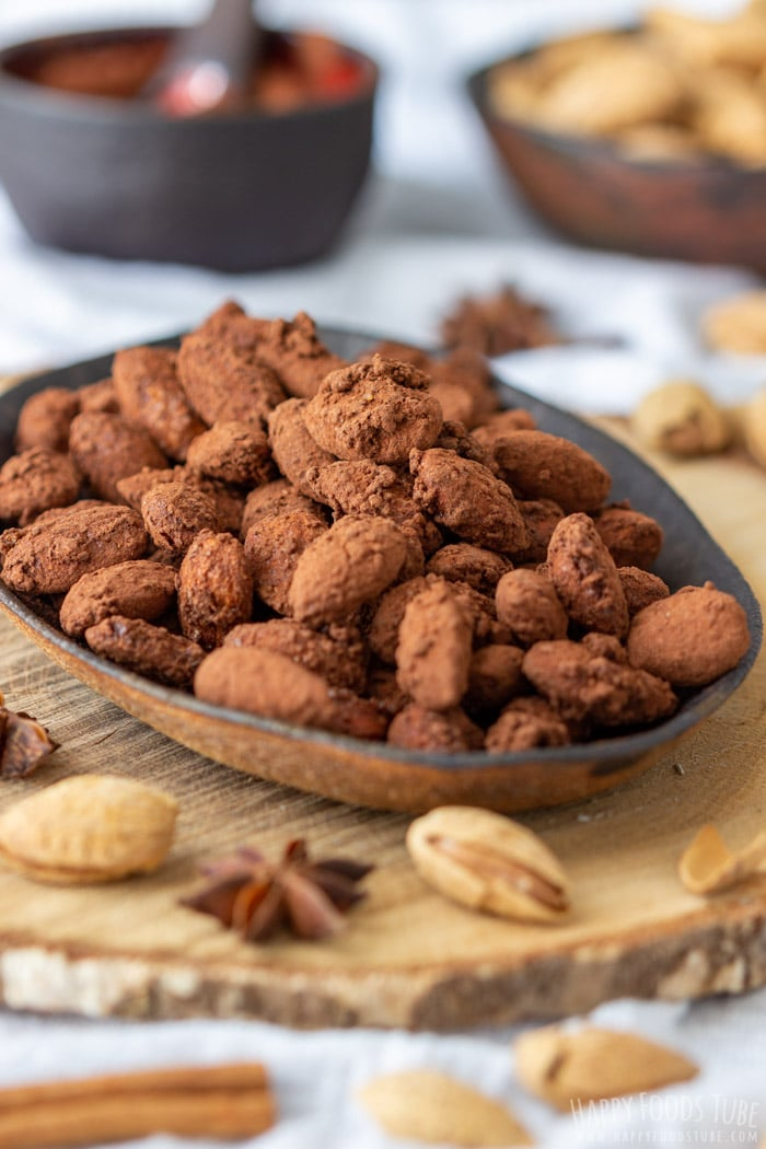 Homemade Spiced Cocoa Roasted Almonds
