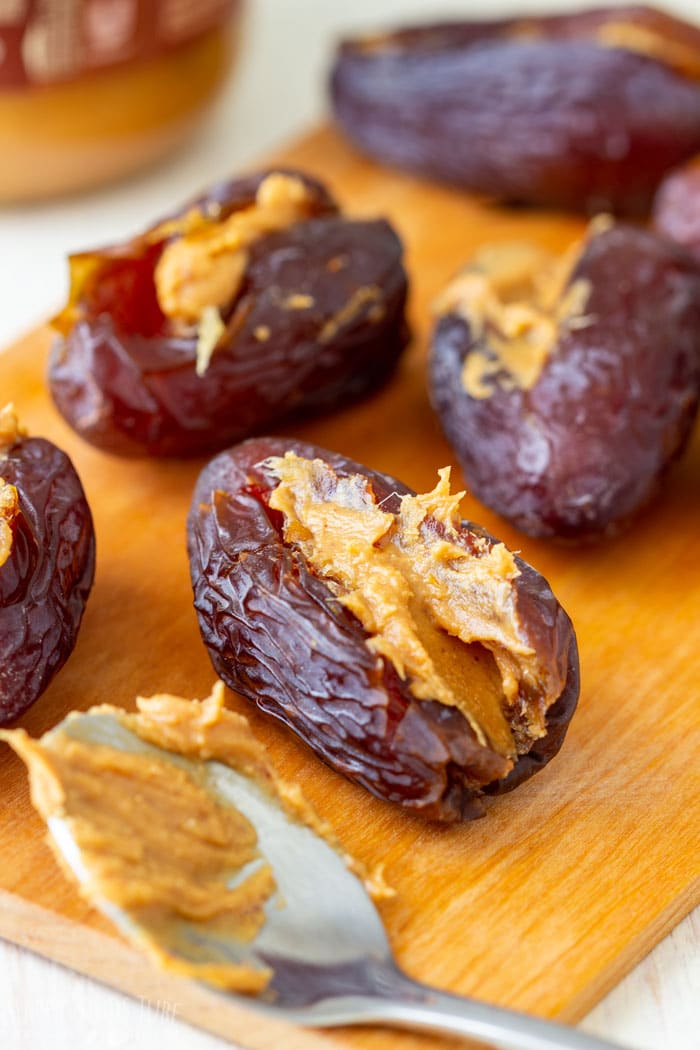 How to make Peanut Butter Stuffed Chocolate Covered Dates Step 1